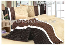 new fabric and multicolor PV coral fleece patchwork bedding comforter set for adults