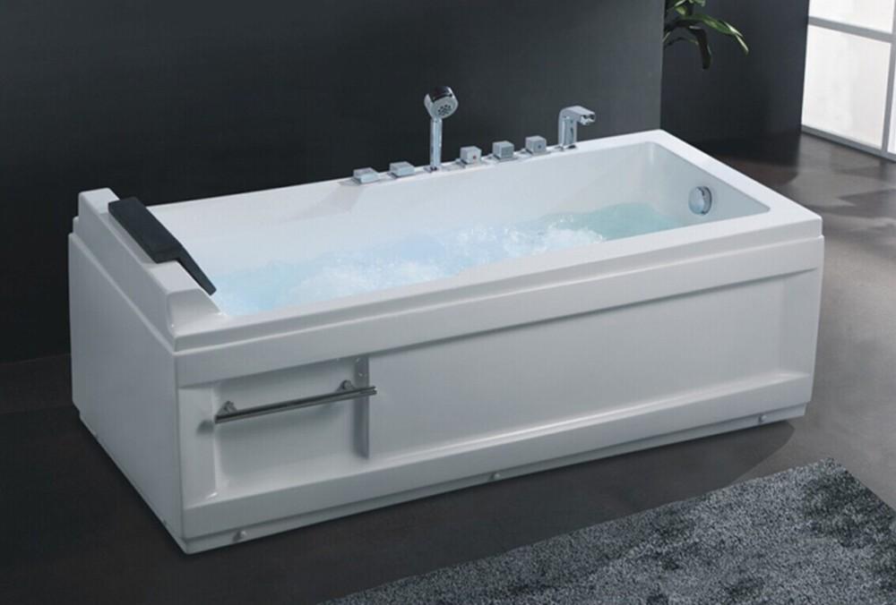 Hs-b260 Small Square 50 Inch Bathtub/one Side Ancient Bathtub - Buy ...