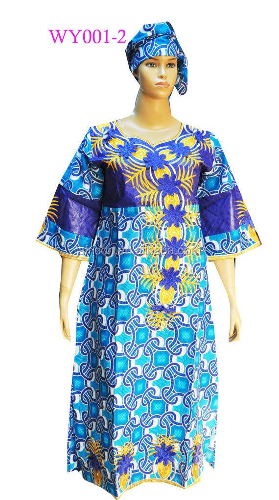 Newest design wax bazin dresses 2015 high quality soft bazin clothes