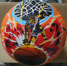 High quality most popular official size 6 rubber basketball