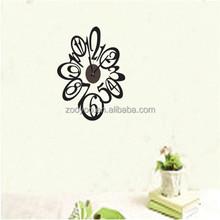 Zooyoo808pvc amovible bricolage horloge murale fleur decal horloges murales fabricants arts design auto - adhésif papier décoratif