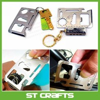 11 in 1 Multifunction Credit Card Survival Knife Camping Tool Pocket Knife Multi Tool Credit Card Knife