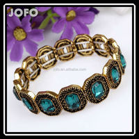 Fashion Pulseiras Femininas Jewelry Vintage Squares Crystal Elastic Bracelets Bangles For Women Mujer Bijoux Accessories 2015