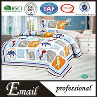 China manufacture 100%polyester fabric dinosaur print bedding set/sets