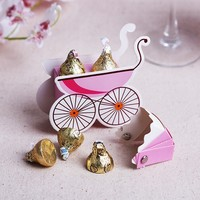 Lovely baby carriage paper gift box for baby shower