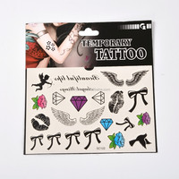 Fashion Body Art Metallic Paper Stickers Removable Mixed Fake Temporary Tattoos