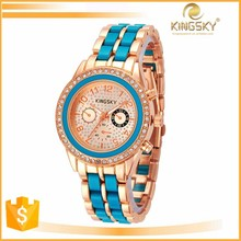 kingsky 2187# good sale wholesale woman wristwatch set 2015 gift watches