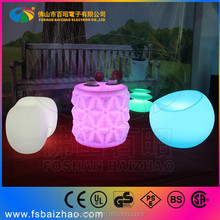 Breaking-proof LED Light Sofa chair Built-in rechargeable battery LED furniture