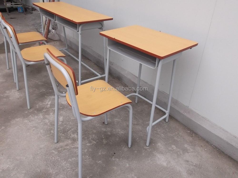 goedkope houten enkele student bureau en stoelen voor scholen meubels ...