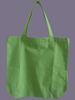 eco friendly blank apple green color nature cotton tote handles carry packaging bag