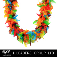 LO683 Wholesale Sexy Rainbow Chandelle Feather Boa