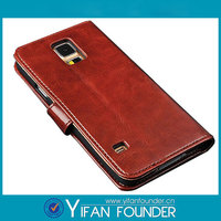 For Samsung S5 OEM Blank Leather Phone Cases Sublimation Leather Flip Cover