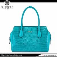 Wishche Best Selling Top Grade Simple Style Women Satchel Bag Leather Shoulder Bag Wholesale Customized Handbag Factory W038