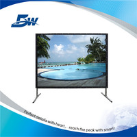 BW Wholesale Quick Fold Outdoor Rear Projection Screen/Portable Fast Foldable Projector Screen