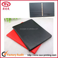 A4 size leather document case with zipper