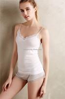 Ladies spaghetti cotton night girls sleeping shirt ladies summer night wear SYA15279