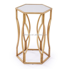 Metal glass antique style table