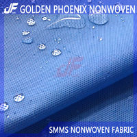 Disposable Medical polypropylene spunbonded nonwoven SMS fabric for hospital bed sheets and surgical gowns