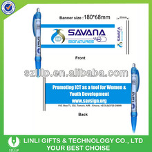 Diffrent Color Promotional Banner Pen With CMYK Logo