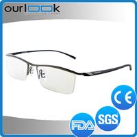 2015 Famous Design Half Rim Eyeglasses Frame Titanium Silhouette