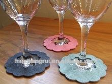 Felt Coaster - Wine Glass Cup Sleeve - Wedding Favor