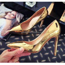 Gold High Heel Shoes Women Sexy Stiletto Pumps Shoes / High Heel For Sexy Women/Evening High Heel Shoes