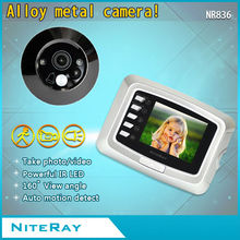 Digital door spy camera 3 inch LCD door entry video security eye Metal Camera