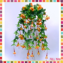 "Flower Decoration for Wedding L 27"" Fuchsia Wall Hanging Artificial Flowers Vine"
