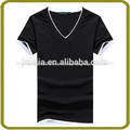 Básica en blanco v- cuello t- shirt