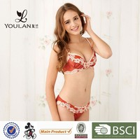 Top Sale Elegant Young Girl Lace Trim High Quality Bra And Panty Sets