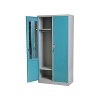Metal storage cabinet in steel with drawer and inserts double door bedroom wardrobe wooden 3 doors wardrobe closet design
