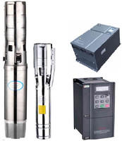High efficiency intelligence centrifuga solar booster /battery inverter solar panel submersible pump