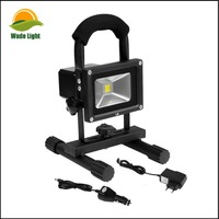 10W LED YELLOW RECHARGEABLE / PORTABLE FLOOD / WORK LIGHT IN COOL / DAY WHITE ** EASY TO USE FLOODLIGHT - IDEAL FOR CAMPING, WOR