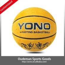 High quality sell cowhide leather basketball accessories YONO-808 custom ball pu ball wholesale