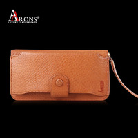 Factory price genuine leather hand bag mobile phone pouch case