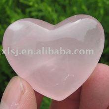 Natural Rose Crystal Heart