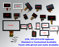 Customized available 2.4 inch to 32 inch transparent glass touch screen with i2c or usb interface