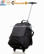 Puntos de impresión oxford de la carretilla de negocios mochila mochila para hombres ocio mochila con ruedas bolsa deporte