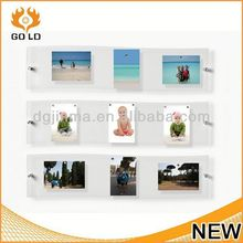 wholesale acrylic funny sex photo frame,wall hanging paper photo frame with clip and rope,handprint photo frame