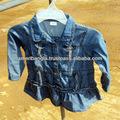 La luz girls' chaqueta de jean azul
