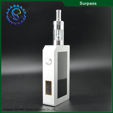 high quality carbon fiber material surpass box mod with LCD screen pandoras box mod, e cigarette low price rail box mod
