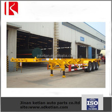 ISO CCC 2 Axles Skeletal Container Truck Semi Trailer