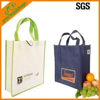 Promotional eco green pp non-woven shopping bag