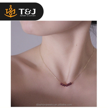 2015 fine jewelry small elegant beads necklaces clavicle thin chain pendant necklaces for girls