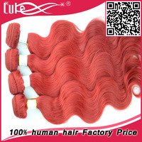 100% Raw Unprocessed Cheap Body Wave Wholesale 3 Bundles Red Brazilian Hair Weave