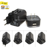 High quality mobile phone/tablet use plug with socket 5V 3.2A dual usb port world universal travel adapter universal usb adapter