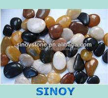 polished landscape river stone pebbles