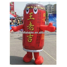 Inflatable moving costumes cartoon can