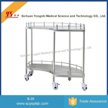 2 Layers Stainless Steel Medical Instrument Table/Trolley