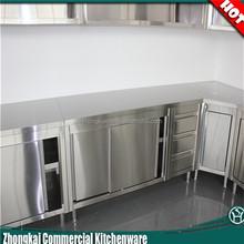 Modern Kitchen Furniture Free Standing Stainless Steel Kitchen Cabinet / Corner Cupboard